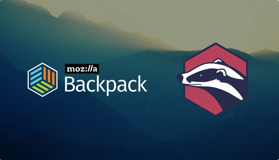 Mozilla Backpack and Badgr logos